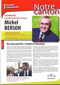 La lettre de Michel Berson, Conseiller général d'Evry nord Courcouronnes - Février 2013 - 1