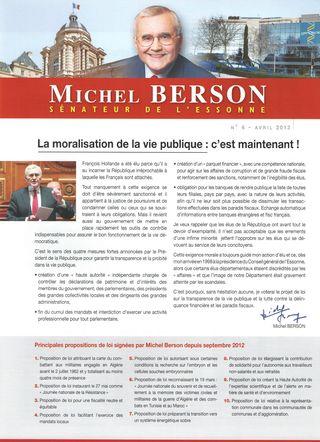 Lettre de Michel BERSON - Avril 2013 - 1